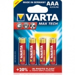 Varta Max-Tech AAA 1.5v (Alkaline) Блистер 4