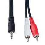 Кабель Audio Perfeo J2005 mini Jack 3,5 (п) - 2х RCA (п), 5 м