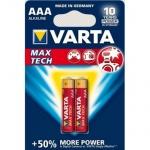 Varta Max-Tech AAA 1.5v (Alkaline) Блистер 2