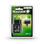 MastAK MFI-001 5V 1A+кабель iPhone